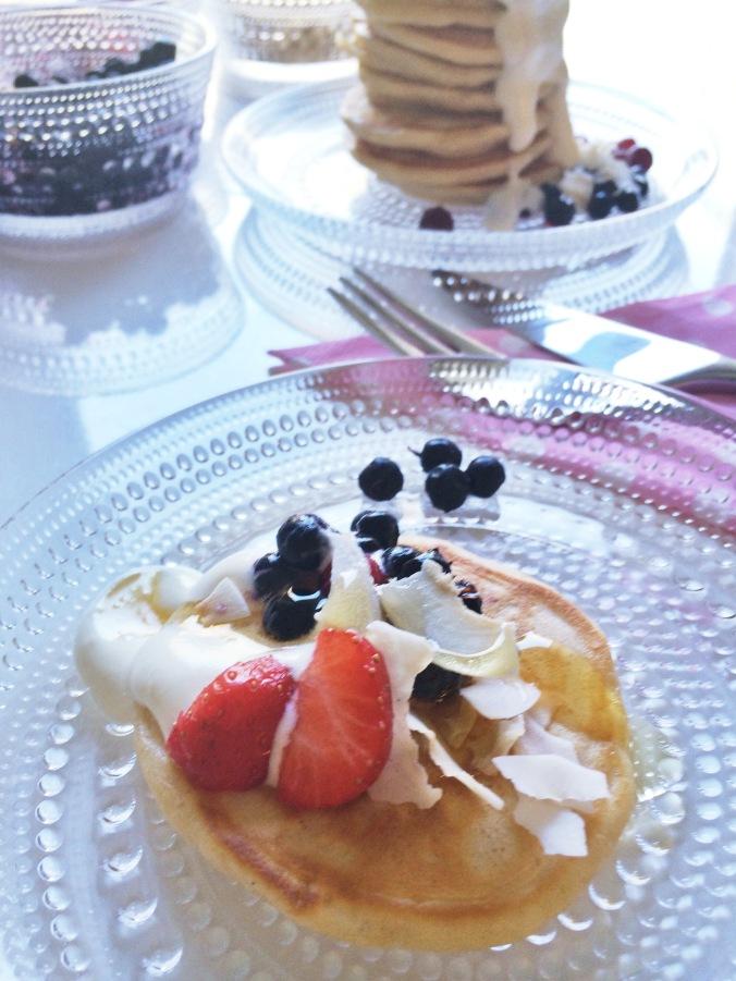 Pancakes lautasella 2