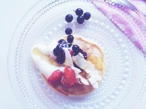 Pancakes lautasella